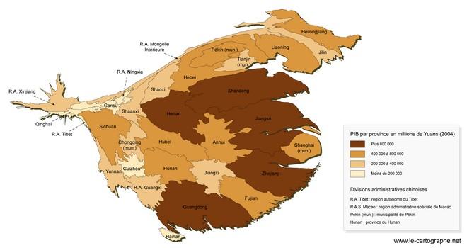 Carte Chine Hunan.Chine Les Disparites Regionales De L Espace Chinois