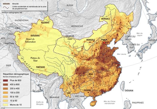 Carte Geographique Chine Sud.Chine Les Disparites Regionales De L Espace Chinois