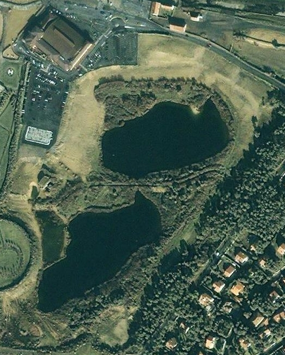 Photo Satellite : Le parc Izadia avant les travaux de réhabilitation