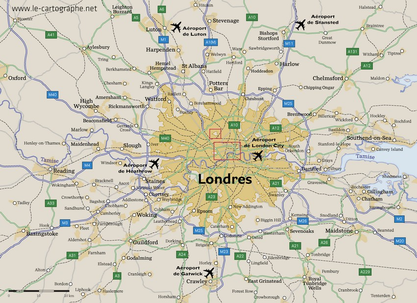 Carte Londres Plan Serious Guide Cartographie Pour