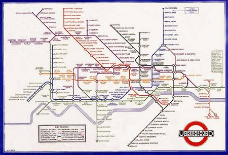 Carte : Le métro londonien selon Harry Beck