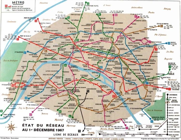 La représentation cartographique du métro