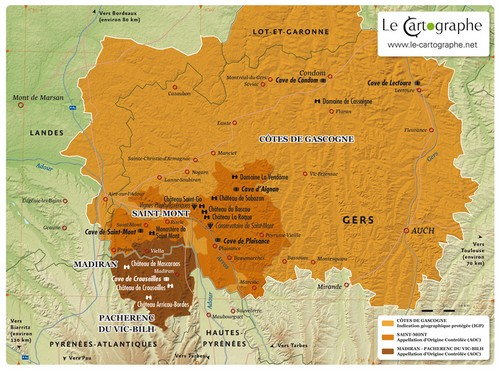 Carte : l'appellation Plaimont