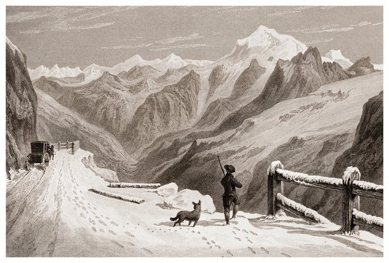 William Brockedon - Le col du Stelvio