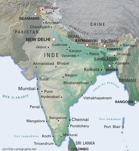 Carte Inde Principales Villes.Inde Fiche D Identite