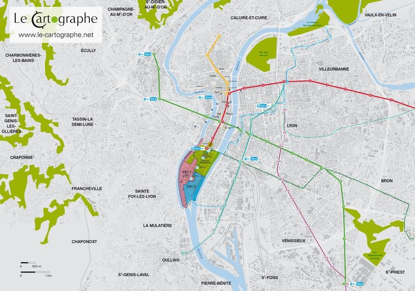 Une cartographie pour Lyon Confluence