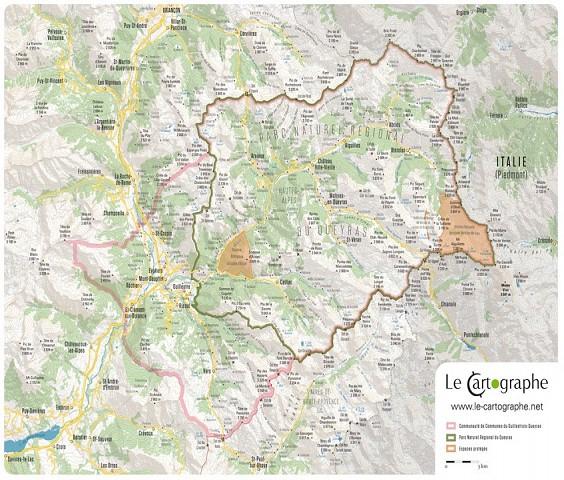 Carte Touristique Du Queyras.Serious Guide Cartographie Pour Guide Touristique